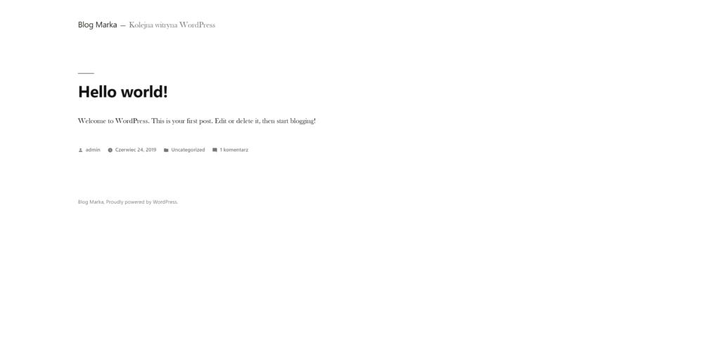 Autoinstalator aplikacji - cPanel - Przykład: WordPress