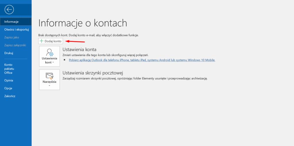Jak skonfigurować pocztę w Microsoft Outlook?