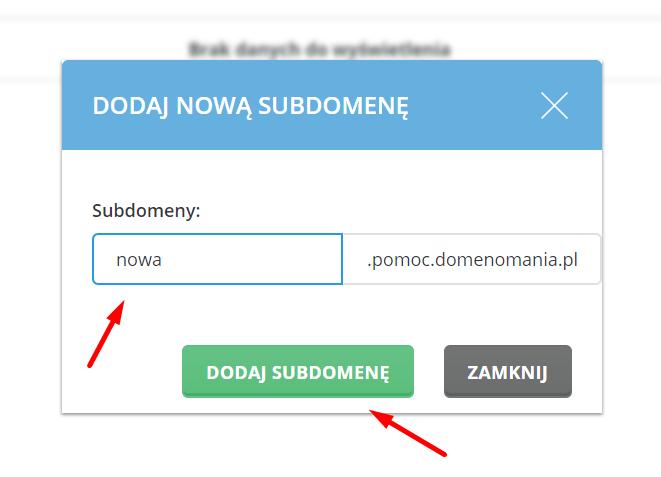 Jak dodać subdomenę w DirectAdmin?