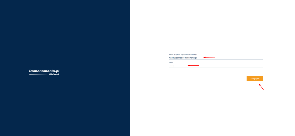 Logowanie do konta pocztowego przez stronę Webmail
