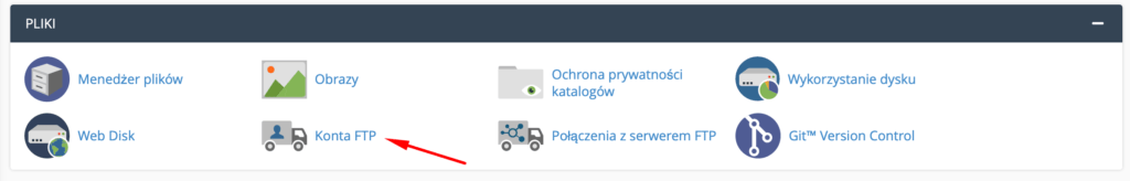 Jak przejść do edycji konta FTP w cPanel?