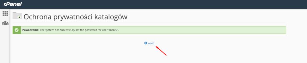 Wskazany folder na serwerze FTP został zabezpieczony loginem i hasłem dostępu