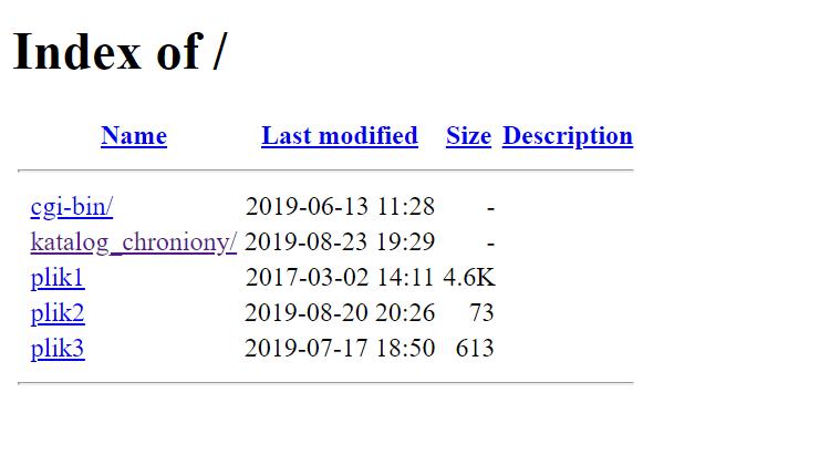 Jak wygląda katalog z włączonym publicznym listowaniem zawartości katalogu?