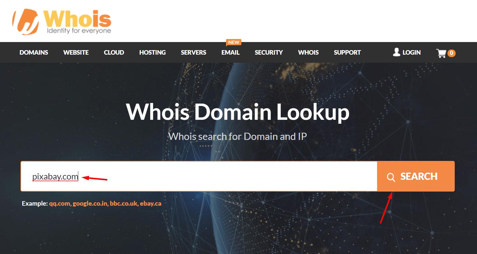 Jak w WHOIS sprawdzić dane innej domeny niż polska .pl?