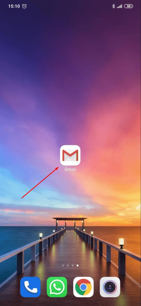 Uruchom aplikację Gmail na Android