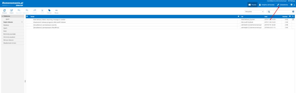 Jak ustawić automatyczne odpowiedzi w Webmail?