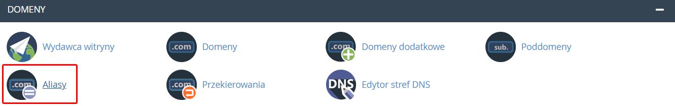Jak dodać alias domeny w cPanel?