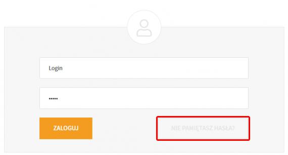 Aby zmienić hasło do Panelu klienta, kliknij opcję: Nie pamiętasz hasła?