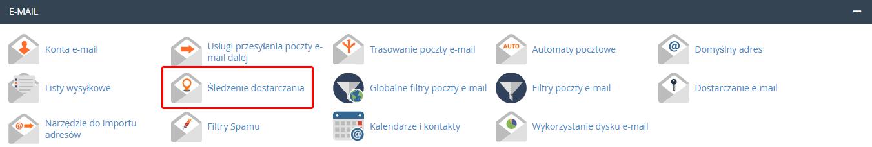 Jak sprawdzić raporty śledzenia e-mail w cPanel?
