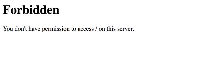 Kiedy serwer wysyła komunikat błędu 403 Forbidden?