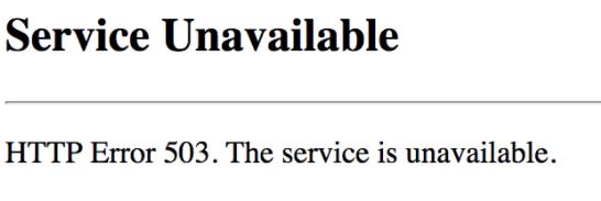 Czym jest HTTP error 503 dotyczący stron WWW?
