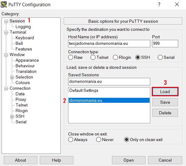Jak w PuTTY połączyć się przez SSH z użyciem kluczy RSA?