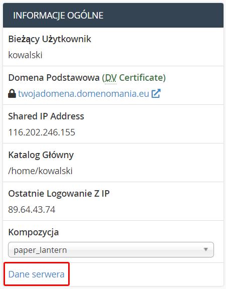 Jak sprawdzić nazwę serwera, na którym znajduje się konto hostingowe?
