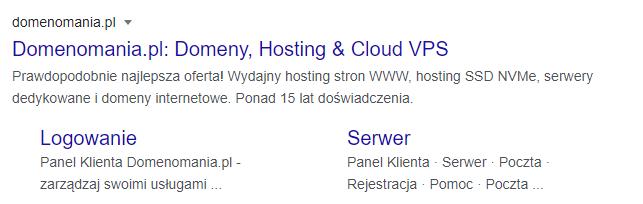 Opis i tytuł strony widoczne w wynikach wyszukiwania Google
