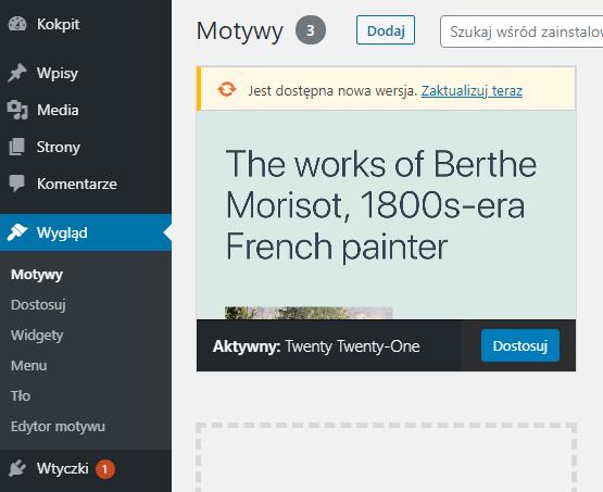 Jak modyfikować wygląd strony w panelu WordPress?