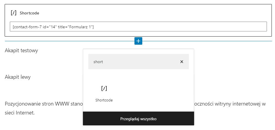 Jak dodać shortcode w WordPress?