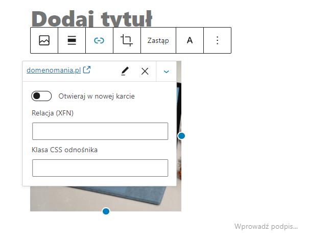 Włącz opcję Otwieraj w nowej karcie - to wygodne rozwiązanie dla zewnętrznych witryn