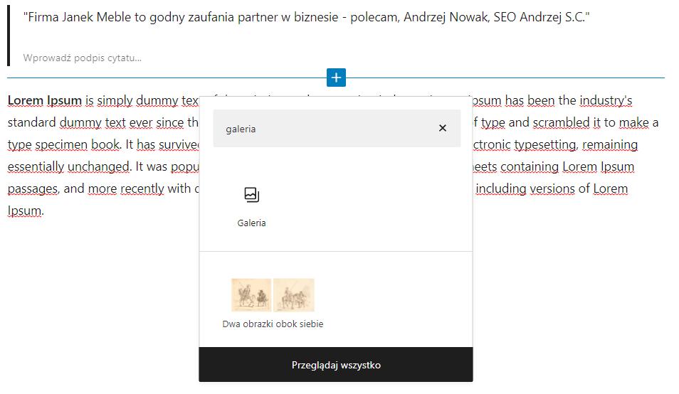 Dodaj nowy blok Galeria do wpisu WordPress i uatrakcyjnij publikowane treści