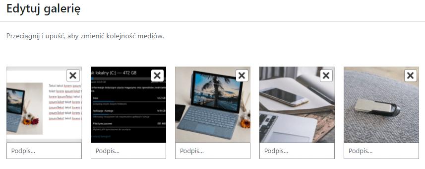 Wybierz zdjęcia, które zostaną umieszczone we wpisie WordPress