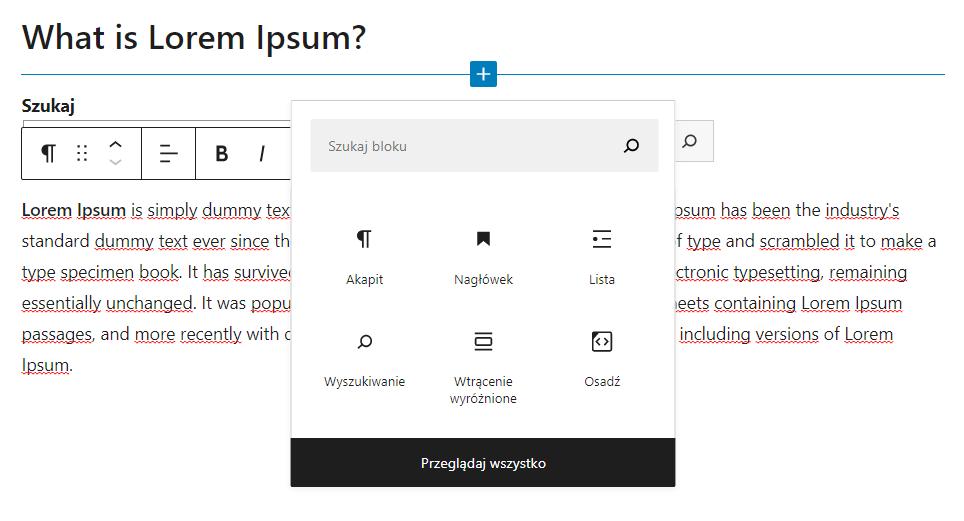 Jak poprawnie dodać nagłówek i akapit w tekście WordPress?