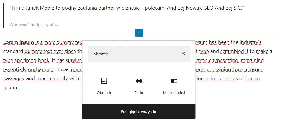Jak dodać zdjęcie do wpisu WordPress?