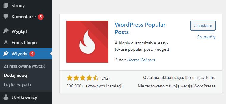 Jak wyświetlić listę najpopularniejszych postów WordPress?