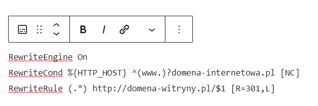 Wprowadź tekst, który ma zostać poddany wstępnemu formatowaniu za pomocą tagu pre