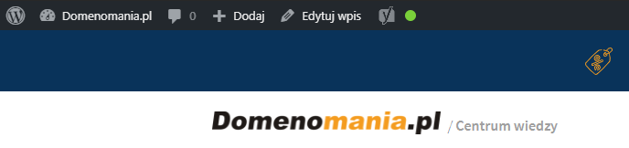 Menu szybkiego dostępu w panelu wordpress dostarcza dostęp do podstawowych funkcji dla administratora