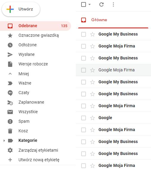 Jak dodać katalog dla wiadomości w Gmail?
