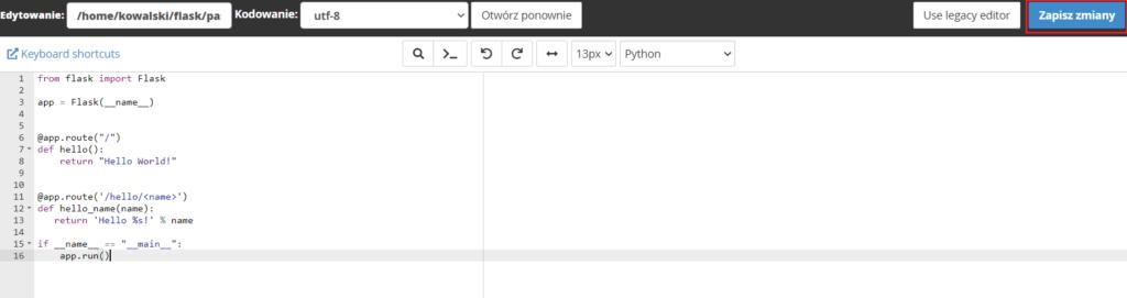 Jak zapisać zmiany w pliku edytowanym na FTP?