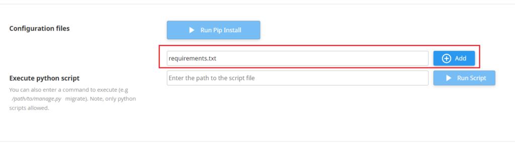 Konfigurowanie aplikacji Python