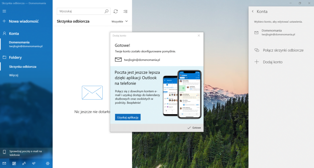 Poprawna konfiguracja poczty w Windows 10