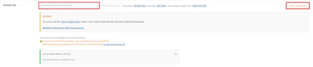 Jak połączyć domenę z QUIC.cloud?