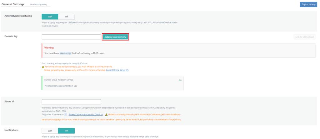Jak połączyć witrynę z QUIC.cloud?