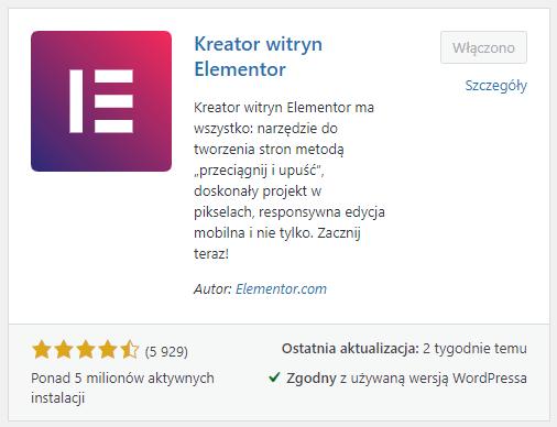 Zainstaluj i aktywuj wtyczkę Elementor w WordPress, aby edytować witrynę za pomocą kreatora WWW