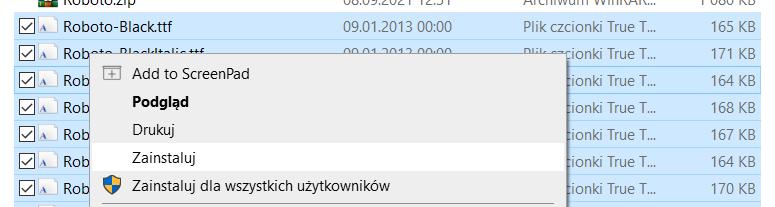 Jak zainstalować pobrane czcionki Google w Windows?